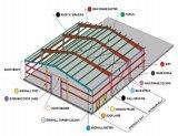 Entrepôt industriel préfabriqué de structure métallique de bâti de pignon (ZY358)