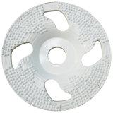 Diamond спаяны чашка шлифовального круга для бетона и камня