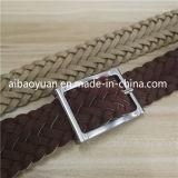 Double couche Bracelet en cuir de tannage végétal ceinture tressée