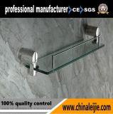 Prateleira de Vidro de aço inoxidável elegante casa de banho para acessórios (LJ55013)