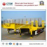 半Ctsmの掘削機の輸送80tの低ベッドのトラックのトレーラー