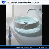 Bacia de lavagem acrílica do dissipador de mármore artificial padrão americano Vitreous da bacia de lavagem de China