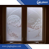 10mm Flat Sandblast Frost Glass for Building