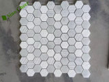 "Polished Honed 2 ""Hexágono Carrara Mármol Mosaico"