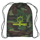 sac de cordon de camouflage du polyester 210d