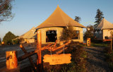 Tent 49sqm van het Hotel van Decagon in de Toevlucht die van de Berg wordt gevestigd
