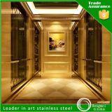 장식적인 엘리베이터 오두막 스테인리스 장을 식각하는 티타늄 색깔 미러