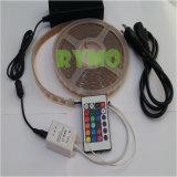 5m светодиодный фонарь с помощью комплекта полосы 150 светодиодный RGB SMD5050, водонепроницаемый, 24 клавиш IR+12 В источник питания (RM-SK-5050RGB30W--24 K)