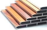 Extrusion en aluminium de profil de construction de section en aluminium en bois de couleur