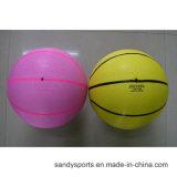 Baloncesto oficial colorido del caucho de la promoción del tamaño