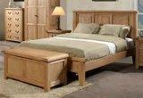 Cama doble de roble macizo establece/Muebles de Dormitorio