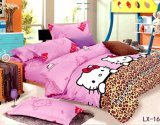 Bedding 중국 Manufacturing 2015년 New Cotton Fabric Flange Four Piece Suit 침실의 Cartoon Series Supplies Set (ZHSHDL)