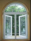 ヨーロッパ規格アーチ形にされた上(PCW-007)が付いている一等級の二重ガラスをはめられたPVC開き窓のガラス窓