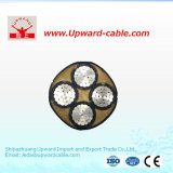 En polyéthylène réticulé à 4 coeurs les câbles de puissance électrique isolé