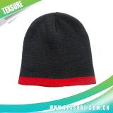 Равнина 100% акриловая связали/Beanies шлема зимы Knit с вышивкой (017)