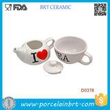 Il POT del tè della novità ha verniciato il POT di ceramica del tè del tè di amore di I