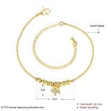 De Parel van de Juwelen van de manier met Sokje van de Tegenhanger van de Vorm van de Vlinder het Gouden Zilveren