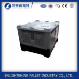 caixa plástica de dobramento corrugada 1200*1000*810mm da pálete do armazenamento