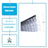 Het aangepaste Afgietsel van de Injectie van het Silicone van de Binnenzolen van de Schoen van het Silicone Lift Verhoogde