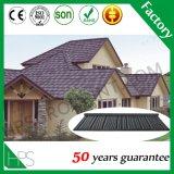 Mattonelle di tetto d'acciaio dello zinco di alluminio, strato rivestito di pietra del tetto del metallo, materiale da costruzione di Guangzhou