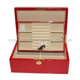 Boîte de rangement à bijoux en cristal de laque rouge