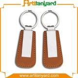 Cuero promocional Keychain del diseño del cliente