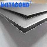 La partición de 4mm Plata Mettalic Panel Compuesto de Aluminio para oficina