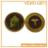 Kundenspezifische überzogene Goldsilber-Kupfer-Zink-Legierungs-Münze (YB-c-005)