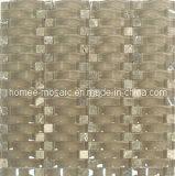 Azulejo De Mosaico Vidrio Ondulado Y Piedra