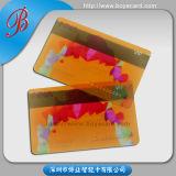 Carte en plastique transparente approuvée de membre de piste magnétique de PVC de GV