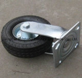 10inch PUの空気のゴム製車輪の旋回装置の産業足車