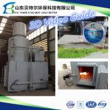 100-150kg / Time Incinerador de Resíduos Hospitalares, Tratamento de Lixo Médico, Guia de Vídeo 3D