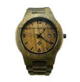 Relógio de pulso de madeira Handcraft de qualidade grossista com logotipo personalizado