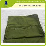 Het Katoenen van 100% Groene Geteerde zeildoek van het Canvas, het Groene Geteerde zeildoek van het Leger, het Op zwaar werk berekende Geteerde zeildoek van het Canvas