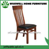 6 의자를 가진 단단한 오크 가죽 다방 가구 (W-DF-0675)