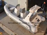 Barca materiale di velocità dell'yacht della nervatura del PVC del peschereccio di Liya 17FT