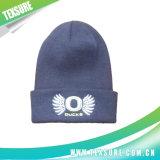 Sombrero/casquillo hechos punto abofeteados unisex del invierno con el bordado 3D (050)