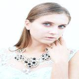 Neuer Entwurfs-schwarze Raupe-Kristall entsteint Form-Schmucksache-Halskette