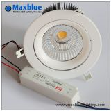 Rebajado moderno regulable COB Downlight LED