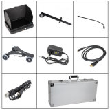 Handheld Tescopic Pole Mobile Under Vehicle Surveillance System para Airport Uvss com duas câmeras