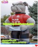 Almofada insuflável bull dog para acções de promoção