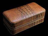 Cohiba Brown Crocodile Leather Cigar Humidors / Cases Hold 6 Cigarette (ES-CA-001)