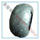 Schritt-Typ 240X110mm Strand-Laufkatze-Karren-pneumatisches Ballon-Rad