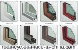 Design moderno cor madeira grossista chineses impacto do furacão Windows /Thermal Break Casement Alumínio Janela com topo arqueados/Zhejiang, Marca Roomeye (ACW-021)
