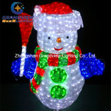 Pupazzo di neve acrilico del LED per Holiday Lighting con CE RoHS