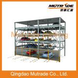 Système horizontal vertical de levage de stationnement de véhicule de 4 étages