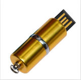 Mecanismo impulsor superior del flash del USB del lápiz labial del metal del grado