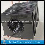 Absolute Shanxi-schwarze Granit-Eitelkeits-Polieroberseiten für Badezimmer und Waschraum