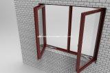 Finestra e portello di alluminio della stoffa per tendine con la vetratura doppia