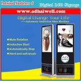 Горячее лоббио LCD гостиницы порта воздуха сбывания рекламируя Signage цифров полируя машины ботинка индикации